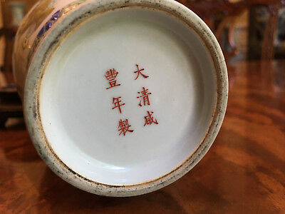 A Chinese Qing Dynasty Famille Rose Porcelain Vase, Marked.