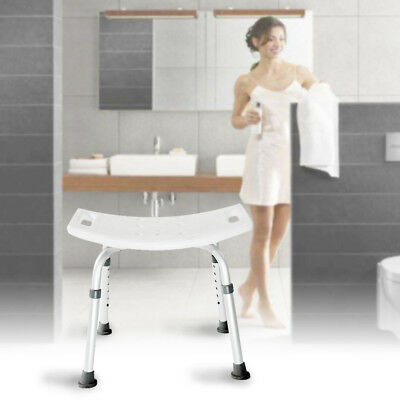 Adjustable Bath Chair Bathtub Stool Bench Seat Shower Armrest Seat With Backrest