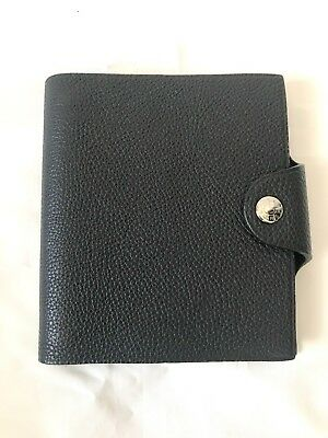 Hermes Ulysse leather mini notebook cover with refills for constance birkin bag