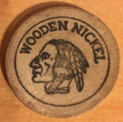 Indian Head Wooden Nickel, 25 Cents Pleasant Valley Baseball Camarillo CA 1970's