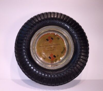 Vintage Seiberling All-Tread  rubber & glass ashtray Old Phone No