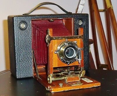 Kodak Eastman Cartridge No 4 (1897) Red Bellows Historical Roll Film Camera