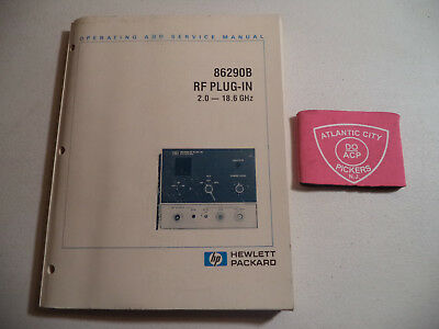 HEWLETT PACKARD HP 86290B RF PLUG-IN 2.0 -18.6 GHz OPERATING AND SERVICE MANUAL