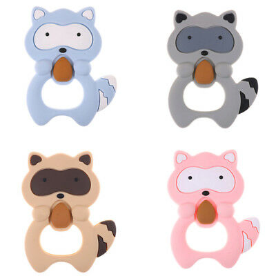 Silicone Teether squirrel Teething Pendant Necklace BPA Baby Chew Toy H&T