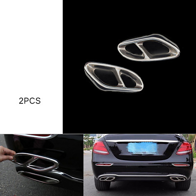 For Mercedes-Benz GLC300 Modified parts Exhaust Pipe Cover Trim Stainless DX7