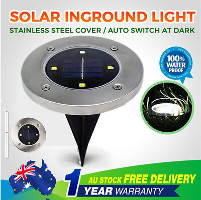 6x Solar Power LED Buried Inground Recessed Warm White Light Outdoor Deck Path