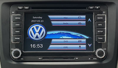 "Rns510 Fits Style Hd Dvd Sd Gps Sat Nav 7"" Vw Passat Touran Golf Mk5 6 T5 Polo"