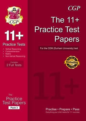 11+ Practice Tests for the CEM Test - Pack 3 (CGP 11+ CEM) (Paperback) New Book