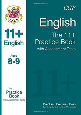 11+ English Practice Book with Assessment Tests Ages 8-9 (f (Paperback) New Book