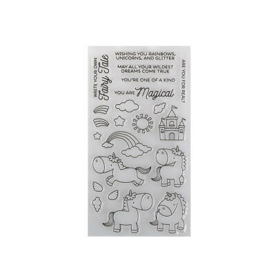 Cartoon Einhorn Wolken Transparent Clear Stempel für DIY Scrapbooking Karten