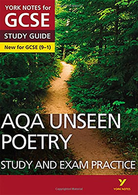 AQA English Literature Unseen Poetry Study and Exam Practic (Paperback) New Book