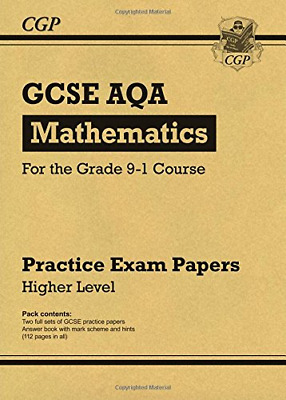 New GCSE Maths AQA Practice Papers: Higher - for the Grade  (Paperback) New Book