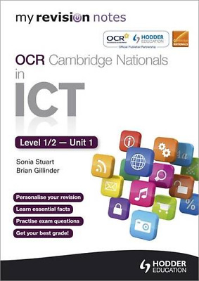 My Revision Notes OCR Cambridge Nationals in ICT Levels 1 / (Paperback) New Book