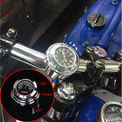 Waterproof Motorcycles Refit Handlebar Dial Thermometer Gauge Accessory