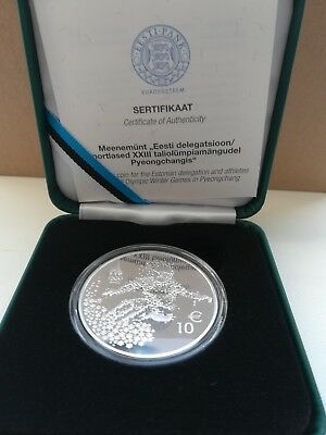 Estonia 10 euro Olympic Winter Games in Pyeongchang 2018 just 2000 silver coins