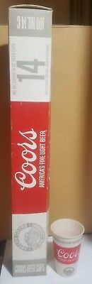 Vintage 1960's Box of 100 Coors Beer Wax Coated Paper Cups