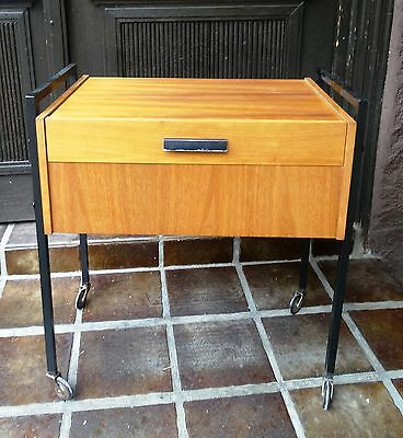 Vintage Designer Teak Holz Näh Tisch Nähschrank Danish Design sewing table ~60er