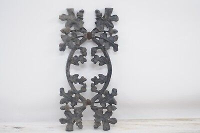 Vintage Cast Iron Salvage Acorns and Leaves Decorative Fencing Salvage #1