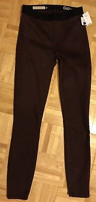 GAP MATERNITY Resolution Pull-On Leggings Skinny JEANS Jeggings Eggplant Sz 26 2