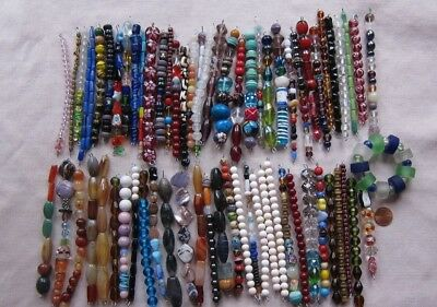 Large Lot of Mostly Glass & Stone Beads New & Used