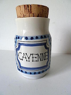 Pot spice or condiment Cayenne signed Capron Vallauris 1950 vintage Chili