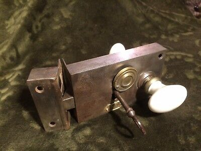 Antique French Rim Lock with Key