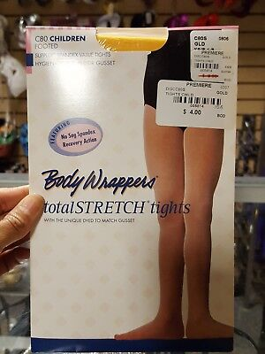 BODY WRAPPERS Girls footed tights gold XS/SM