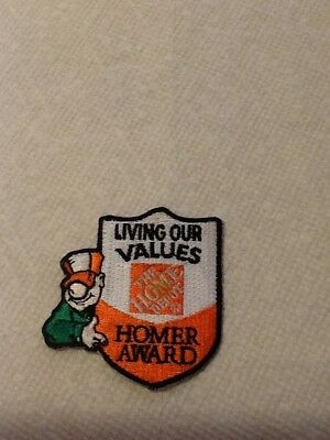 Home Depot Living Our Values Homer Award Patch