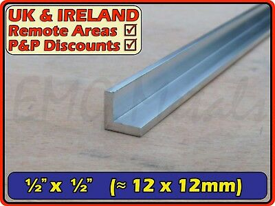 "Aluminium Angle (L section, edging, bracket, ally, alloy, trim) | 12.7mm (1/2"")"