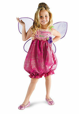 2552e8a1 Girls Barbie Butterfly Princess Costume Wings Child Fancy Dress Pink Fairy  Kids