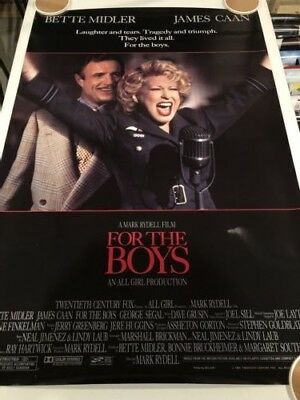 FOR THE BOYS Original Movie Poster 27X40 DS/Rolled - 1991 - BETTE MIDLER
