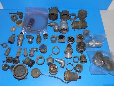 Lot Of Vintage Military Connectors Plugs For Receivers Transmitters Signal Corps