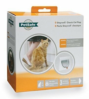 Petsafe Staywell Manual 4-way Locking Cat Flap With Tunnel White