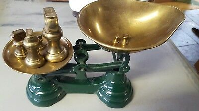 Vintage LIBRASCO SCALES w BRASS PANS from ENGLAND - Kitchen Decor Scale
