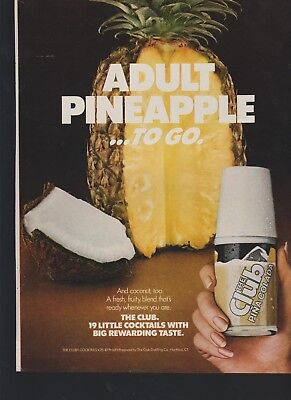 lot of 6 The club premixed cocktail vintage print ads tequila sunrise and more