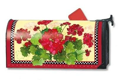 Geraniums and Checks Mail Wrap from Studio-M | 01191