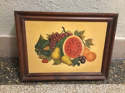 Three Mountaineer Hidden Vintage 1965 Spice Rack with Fruit Still Life Cover