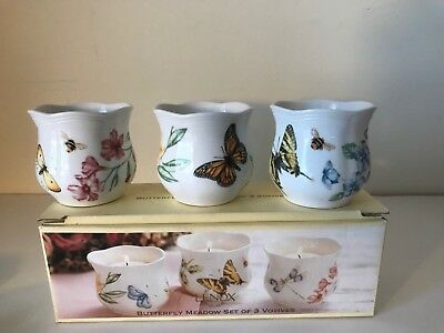 Lenox Butterfly Meadow Set of 3 Votives Easter, Mother's Day, Spring, New
