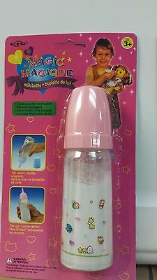 Pink Baby Doll Bottle Disappearing Magic Milk Bottle Pretend Feeding Classic Toy