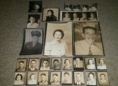 Antique Vintage Photo Booth Photo Lot Of 24 Whimsical Fun