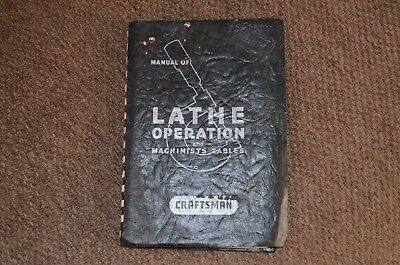 ATLAS CRAFTSMAN  Manual Of Lathe Operation and Machinists Tables–Engineering1937