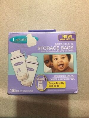 Breastmilk Storage Bags BPA & BPS Free Milk Bag 100ct by Lansinoh(A5)