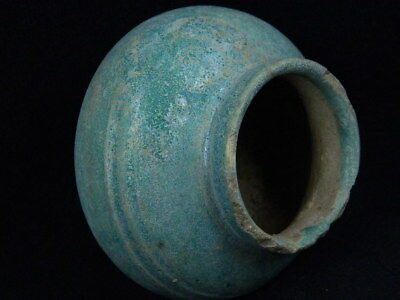 Ancient Glazed Pot Islamic 1100 AD No Reserve Auction   #PT695