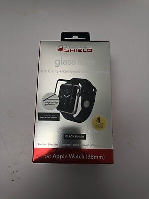 Zagg shield Glass Luxe HD Clarity Black Finish For Apple watch Series 2 38mm