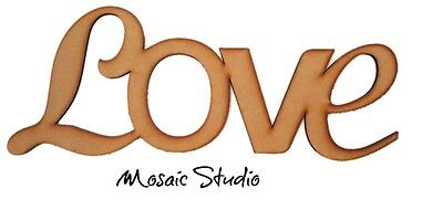 LOVE - Wooden Cut-out - 400x200mm