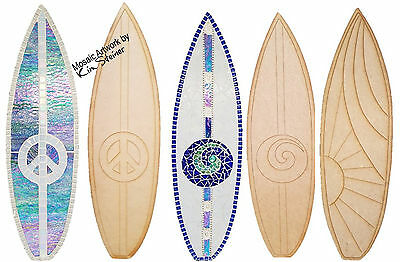 Large Surfboard - Wooden Cut-out 580x170x6mm - Choose your design
