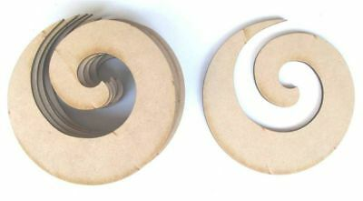 Spiral x 10 - Mdf Laser Precision Cut Outs