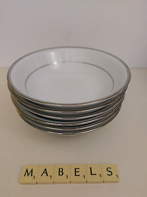 BOOTS NORITAKE ~PLATINUM COLLECTION~  dessert cereal bowls x 6