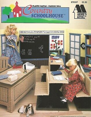 Country Schoolhouse Plastic Canvas Barbie Fashion Doll Patterns Annie's Attic