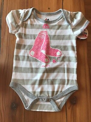 Baby Girl Red Sox snap-on 3 6 Mos Pink New Baby Outfit